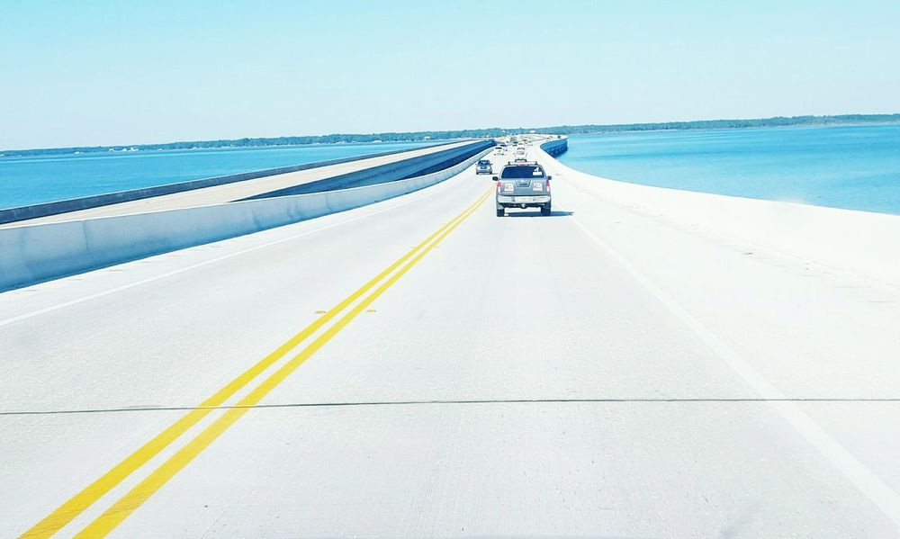 TakeoverContrast Bridge - Man Made Structure Highway Transportation Road Water Two Lane Highway Old Bridge Vs New Bridge