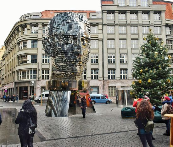 Praha ❤️ Modern City Travel Christmas Building Exterior Architecture Adults Only Day Tree Outdoors Built Structure People Adult Large Group Of People Sky Only Men