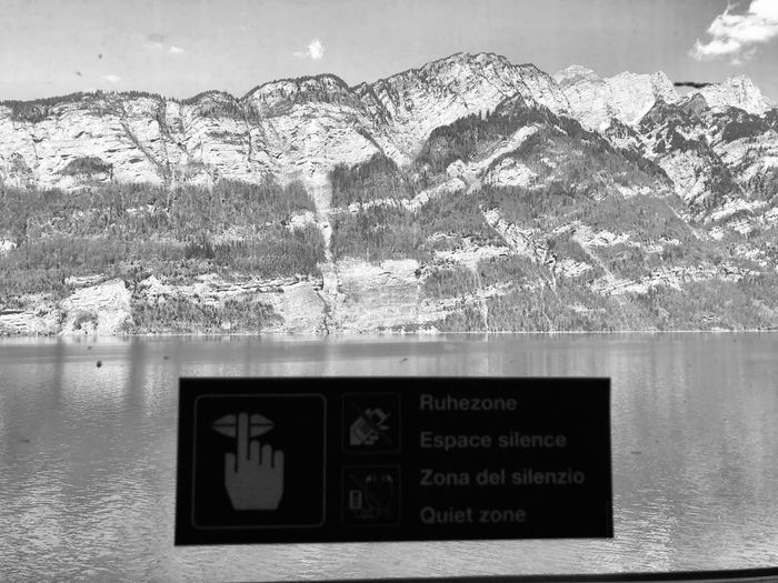 Quiet please Water Text Western Script Communication Day Nature No People Outdoors Number Lake Sky Reflection Capital Letter Beauty In Nature Waterfront Information