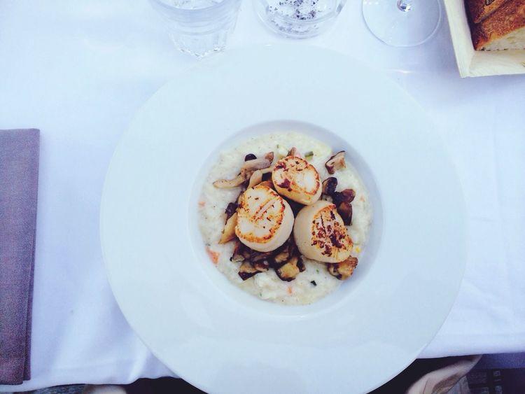 Miam petit risotto entre bro Stjacques Restaurant Goodwine & Finefood la base ❤️