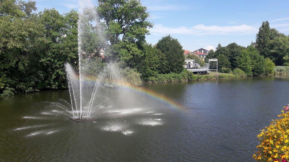 Montbéliard, France Fountain Water Water Reflections Rainbow Water Rainbow Fountain Rainbow