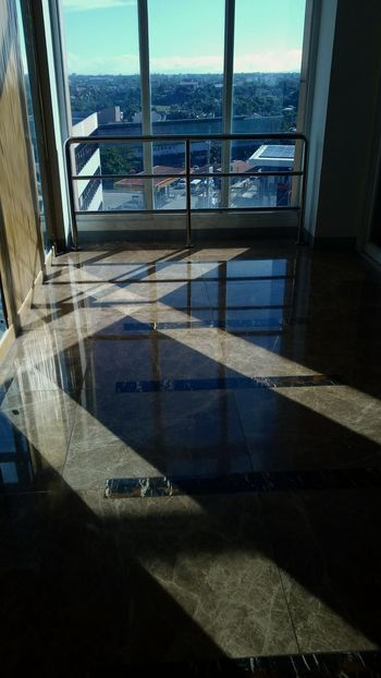 Right Angles at 9am Water Architecture Built Structure Window Railing Reflection Shadow