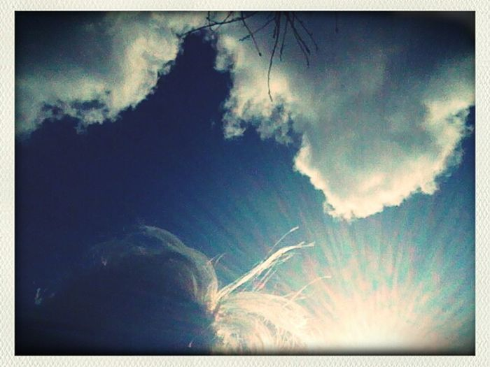 photo by mistake... but still nice;) Clouds And Sky Heavenly Weirdography My Hair In The Wind
