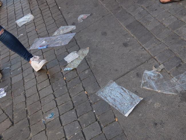 Dirty Euro 2016 Fooball Garbage Messy Porto Portugal Street