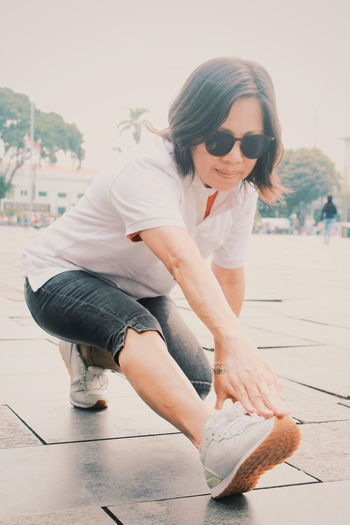 50 Years Old Portrait Woman Healthy Sport Strength Mature Adult Glasses Exercise This Is Strength International Women's Day 2019 The Art Of Street Photography