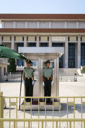 This Is Masculinity Guards Mao Mausoleum Mao Tse Tung Tiananmen Square Architecture Building Exterior Built Structure Day Full Length Lifestyles Men Outdoors People Police Real People Sky Standing The Week On EyeEm Discipline The Street Photographer - 2018 EyeEm Awards The Architect - 2018 EyeEm Awards