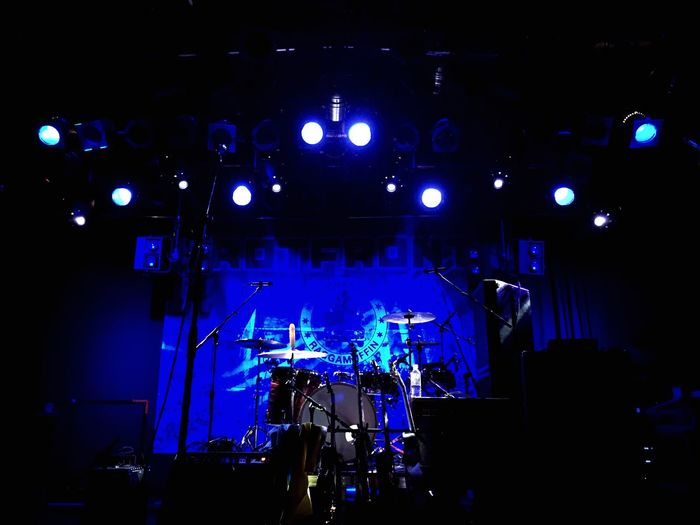 Rotfront Blue Empty Stage Lights Concert