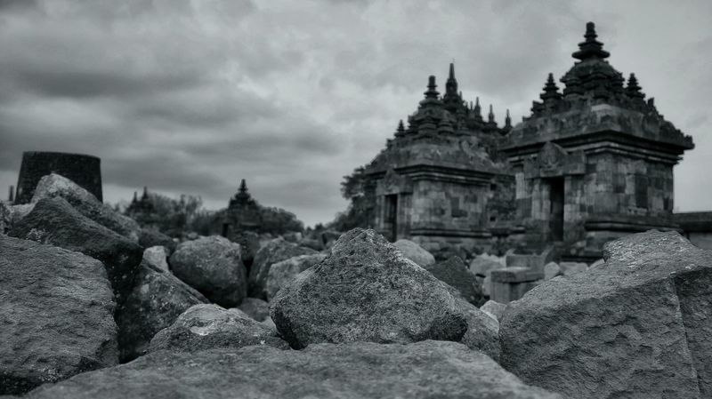 Temple INDONESIA Plaosan Wonderful Yogyakarta Yogyakarta Story Blackandwhite Landscape