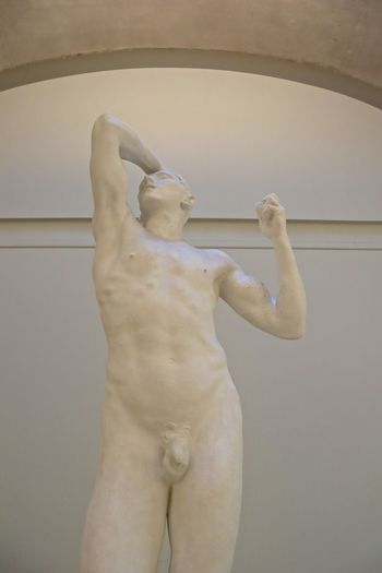 Human Representation Male Likeness Representation Art And Craft Indoors  Sculpture Statue Creativity Museum Low Angle View No People Standing Wall - Building Feature Shirtless Architecture Arts Culture And Entertainment Built Structure Craft History Arms Raised Fine Art Statue