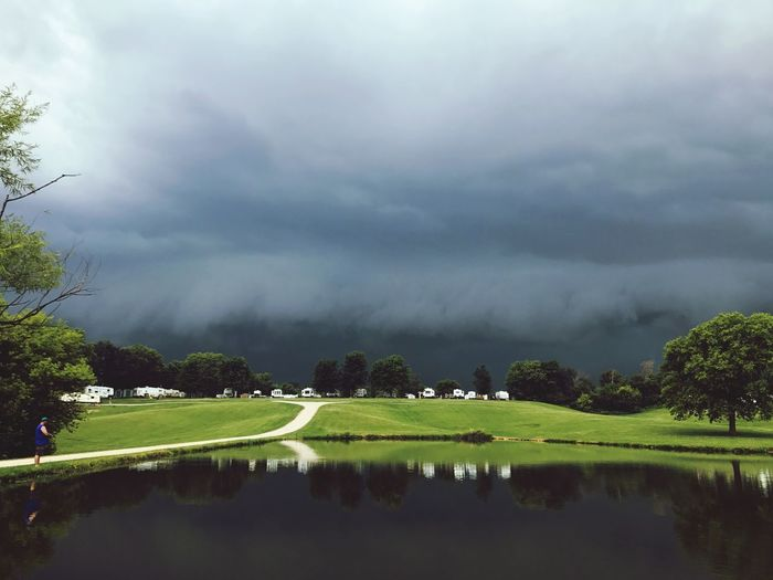 Approaching storm Campinglife Wall Cloud Storm Storm Cloud Tree Nature Cloud - Sky Sky Beauty In Nature Tranquil Scene Scenics Outdoors Weather Storm Cloud Lake
