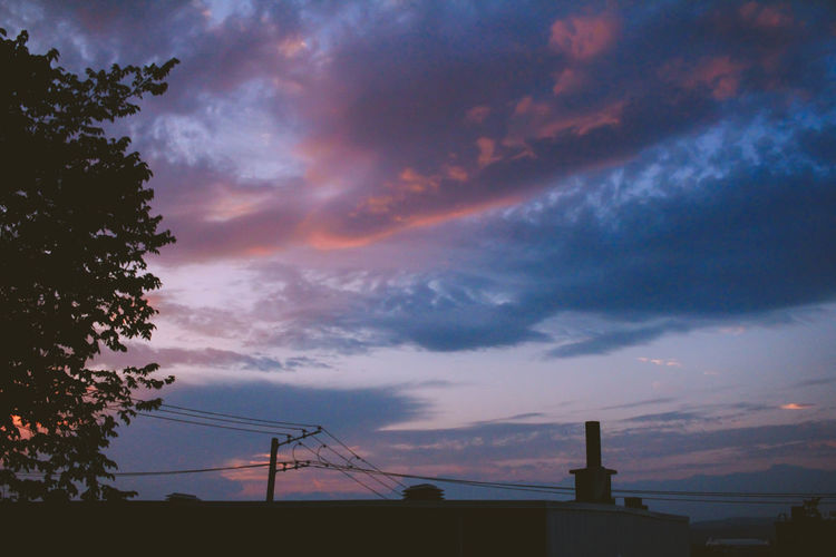 Beauty In Nature Cloud - Sky Day Low Angle View Nature No People Outdoors Scenics Silhouette Sky Sunset Tree