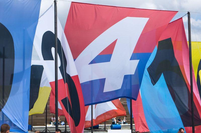 Pitti Pittiuomo Florence Firenze Italy Flag Number Fair Fashion