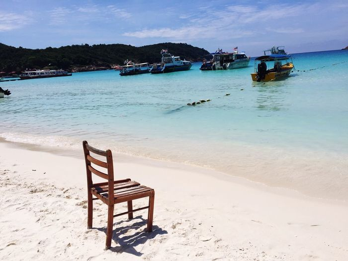 Malaysia Pulau Redang Outdoors No People Chair Sea Beach Travel Destinations Tourism Holiday Sunshine Island Live For The Story The Great Outdoors