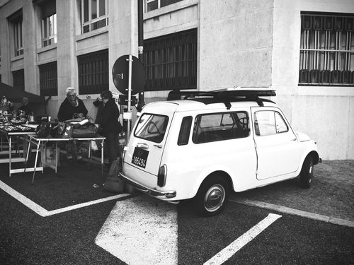 Autobianchi Architecture Bianchina Bianchina Fiat Building Exterior Built Structure Car City Day Land Vehicle Men Mode Of Transportation Motor Vehicle Outdoors People Real People Road Street Transportation