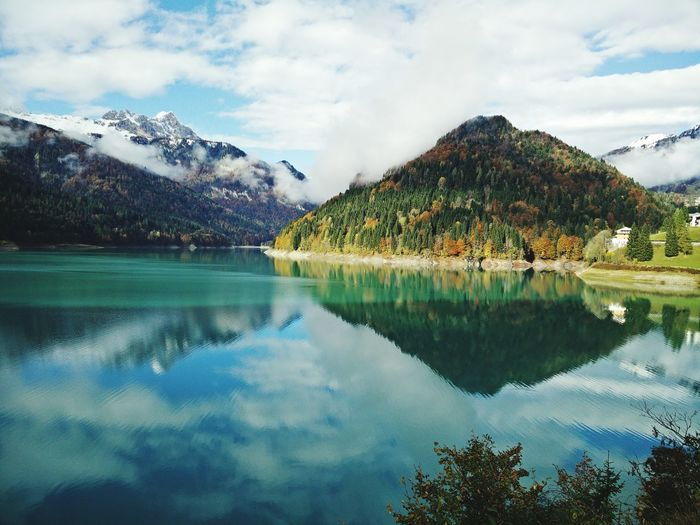 Another wiew of lake Lake View Landscape Mountain View Sauris