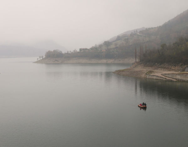 Background Fog Foggy Lago Del Turano Lake Melancholy Scenics Silence Tranquil Scene Transportation Waterfront