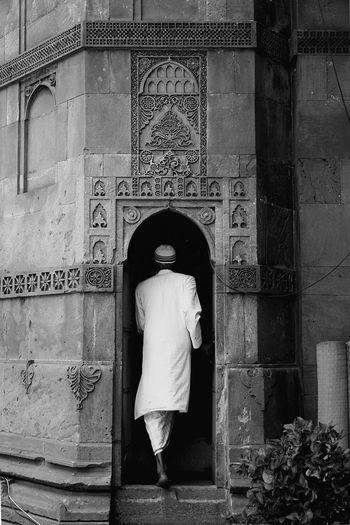 Man Entering Mosque