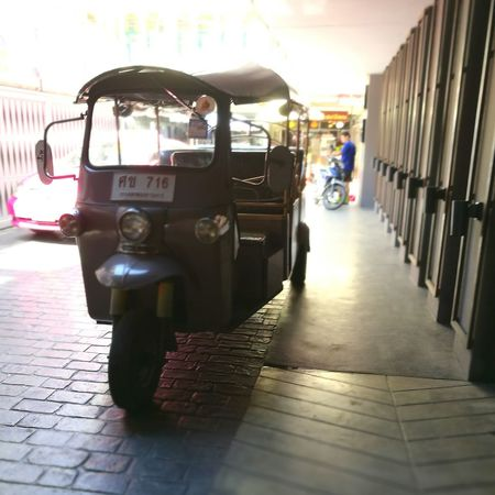 Tuk tuk thailand Transportation Cobblestone Street Road Land Vehicle Car Mode Of Transport Built Structure Architecture City Building Exterior City Life Day Paving Stone The Way Forward Footpath