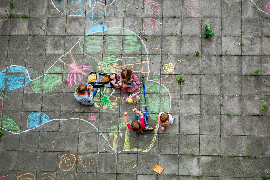 kids are drawing and having fun Boy Casual Clothing Chalk Child Childhood Children Draw Draw Something Drawing Drawing ✏ Drawings Girls Ground Ground Plates Kid Kids Kids Having Fun Kids Playing Leisure Activity Multi Colored Outdoors Paint Painting Painting Art Playing