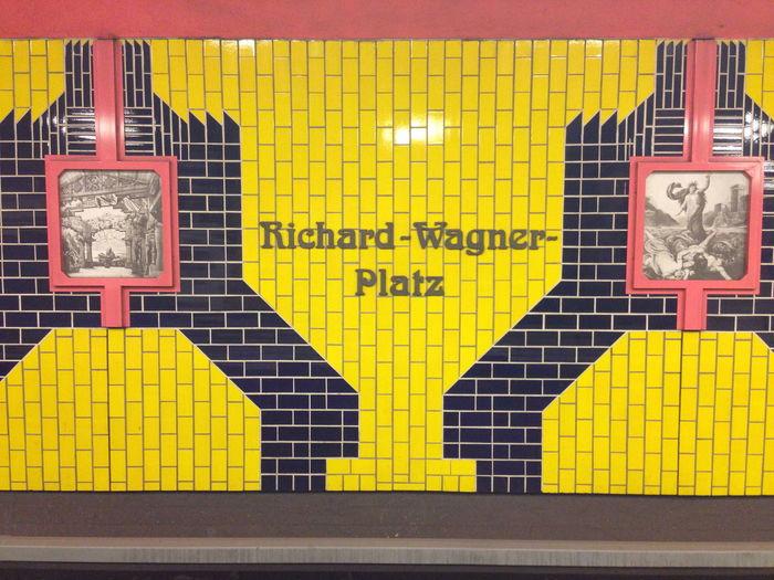 Berlin Communication Geometry Indoors  Information Pattern Richard-Wagner Platz Sign Subway Subway Station Symmetry Text Tile
