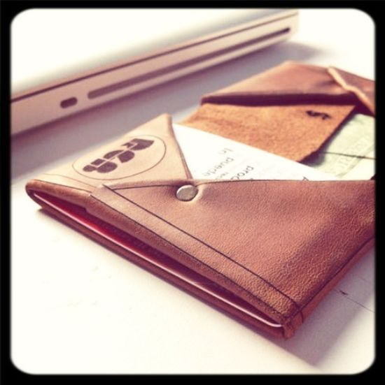 Leather Wallet Billetera Piel