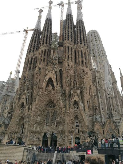 Catedral De Barcelona Sagrada Familia Barcelona, Spain Gaudì Architecture Work Humanity Meets Technology Ancient Civilization Place Of Worship City Spirituality Religion History Ancient Architecture Sky Building Exterior Historic Civilization The Past Old Ruin Historic Building Arch Visiting Statue Sculpture Ruined Archaeology
