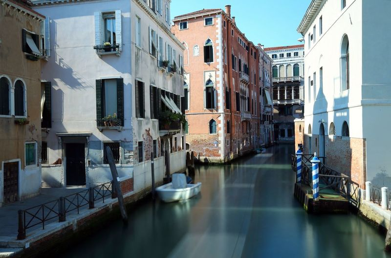 Venice Italy with long exposure #Venice Italia Long Exposure Shot Venezia Venice, Italy Architecture Building Exterior Built Structure Canal Italian Food Italy Long Exposure Residential Building Venezia Italia Venice Water Waterway