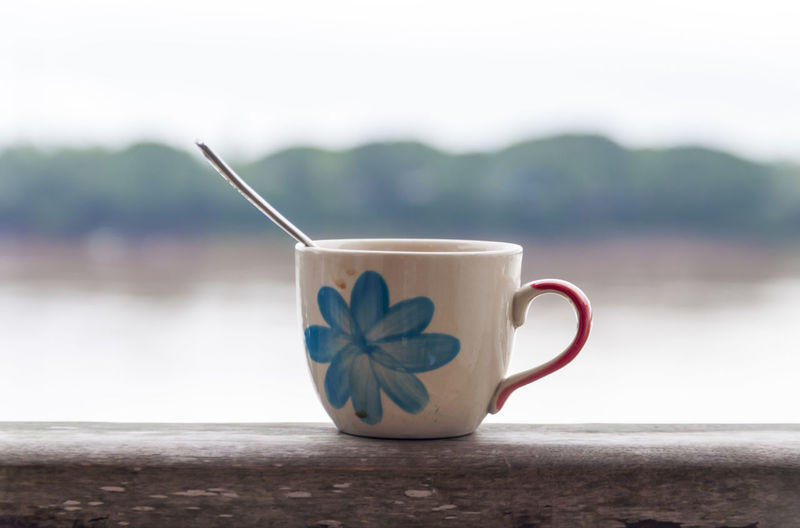 Cafeine Check This Out Close-up Coffee - Drink Coffee Cup Colors Cup Of Coffee Drink Drinking Food And Drink Freshness Monochrome Mug No People Refreshment River Spoon Still Life TAB Table