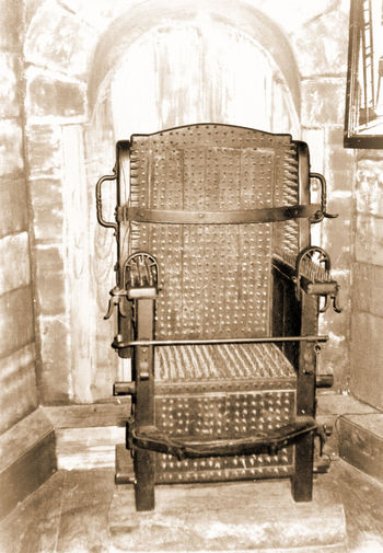 Comfortable Historic History Iron Chair Pain The Past Torture Chamber
