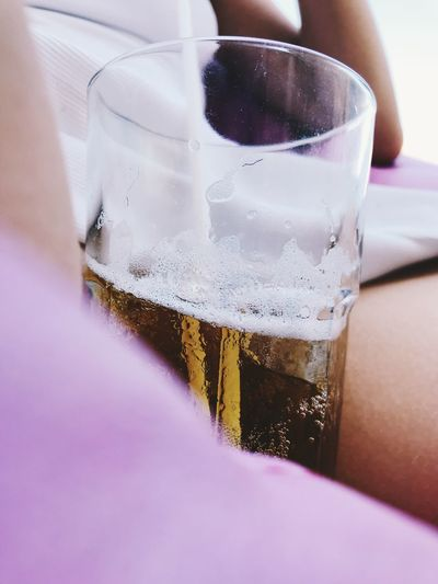 Drink Refreshment Glass Food And Drink Drinking Glass Household Equipment Close-up Alcohol Freshness Indoors  Table Transparent Glass - Material Cold Temperature Still Life Selective Focus No People Beer Purple