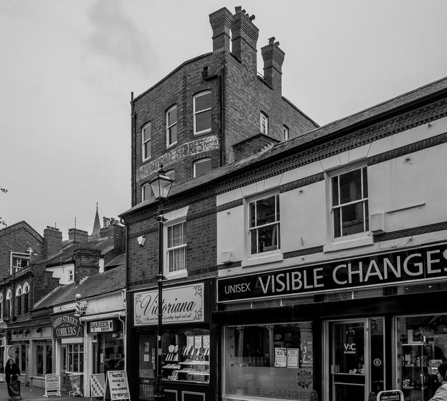 Chapel Street, Rugby, Warwickshire Rugby Warwickshire Rugbytown Black And White Monochrome Architecture FUJIFILM X-T10 Shops Street