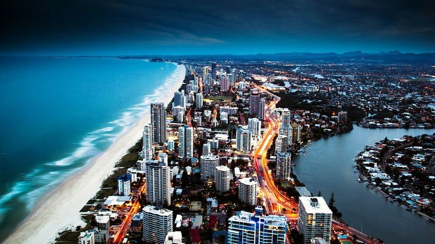 Life Changing Sea High Angle View Water Aerial View Night Business Finance And Industry Outdoors Long Exposure Travel Destinations Beach Road No People Cityscape Architecture City Sky Nautical Vessel Horizon Over Water
