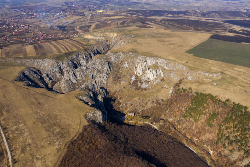 Aerial view of a deep limestone gorge from a drone Environment Scenics - Nature Landscape Gorge Canyon Valley Limestone Tureni Romania Transylvania Nature No People Rock Mountain Land Outdoors Physical Geography Eroded High Angle View Aerial View Aerial Aerial Photography Aerial Shot Aerial Landscape Dronephotography