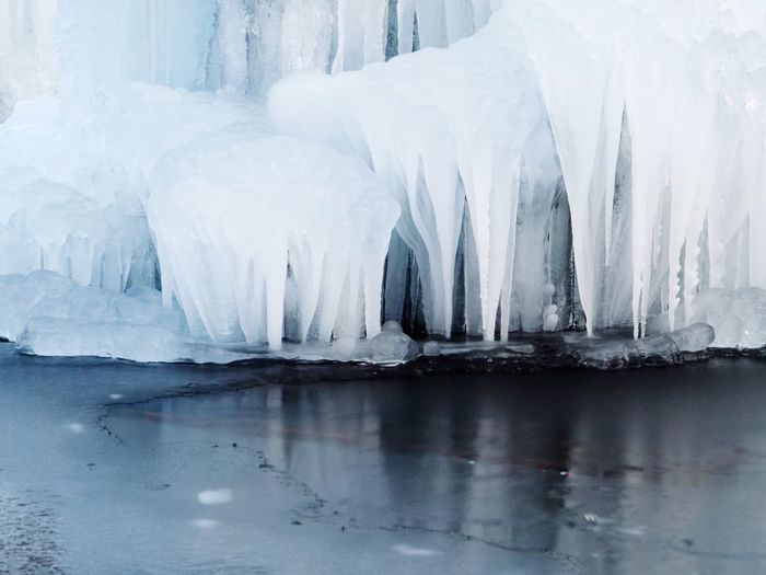 It's cold in the city Ice Cold Temperature Winter Frozen Snow Iceberg Glacier Waterfront Scenics Global Warming White Color Nature Water Melting Outdoors Glacial Tranquility