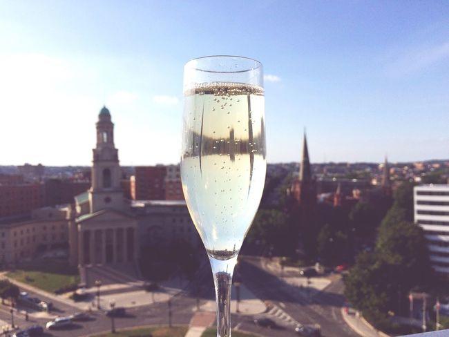 Rooftop bubbles Champagne Champagne Flute Rooftop Rooftop Bar Prosecco Bubbly Summer Summer Views Washington, D. C. Skyline