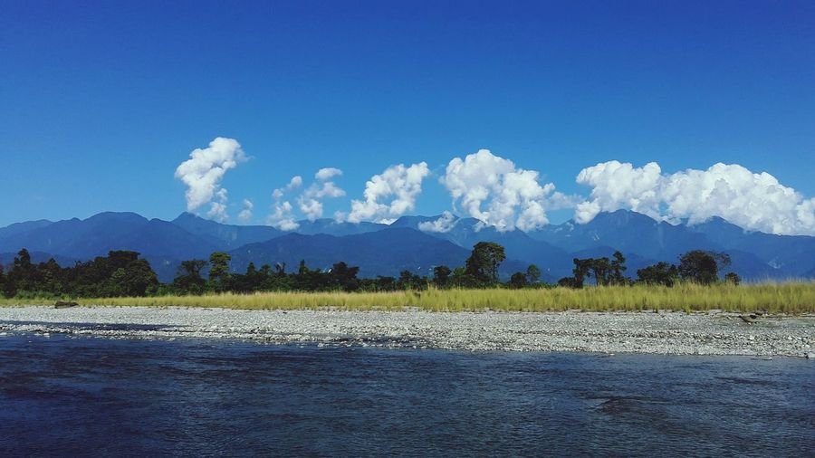 Blue Sky With Clouds Mountain Tree Agriculture Blue Rural Scene Accidents And Disasters Mountain Range