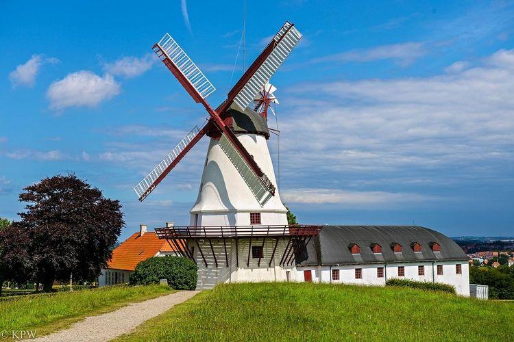 Alternative Energy Blue Built Structure Danmark Rømø Denmark Dybbøl Mølle Dänemark Düppel Landscape Traditional Windmill Windmill