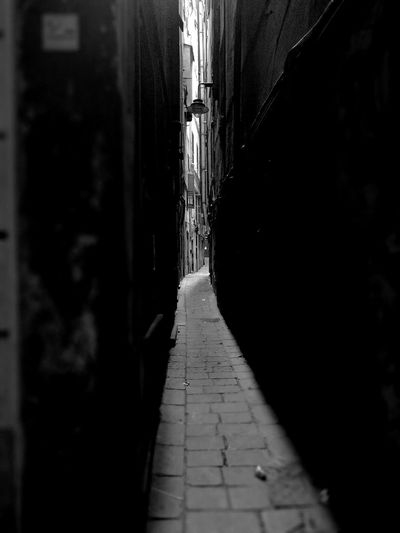 Narrow Architecture Monochrome Photography Dramatic Angles Paving Stone Alley Footpath Genova And Its Carruggi Genova