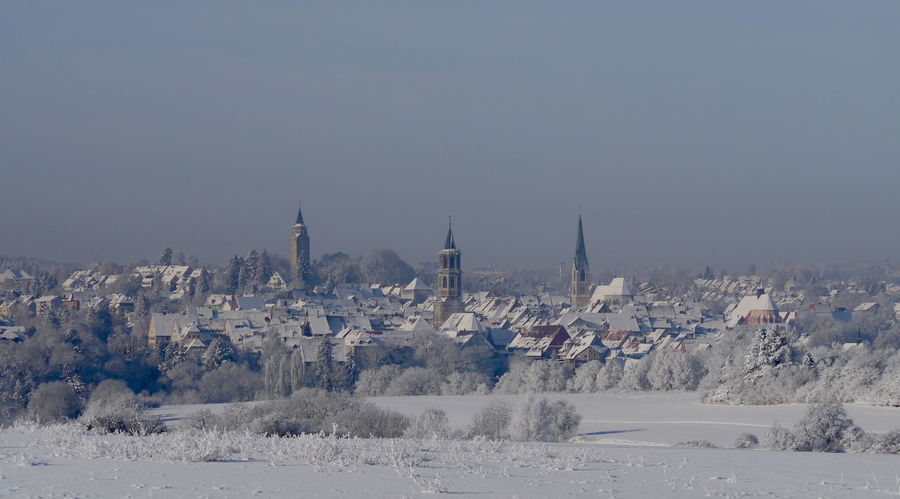 Clear Sky Cold Temperature Nature No People Outdoors Rottweil Sky Snow White Color Winter