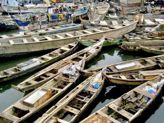 Pirogues - traditional fishing boats