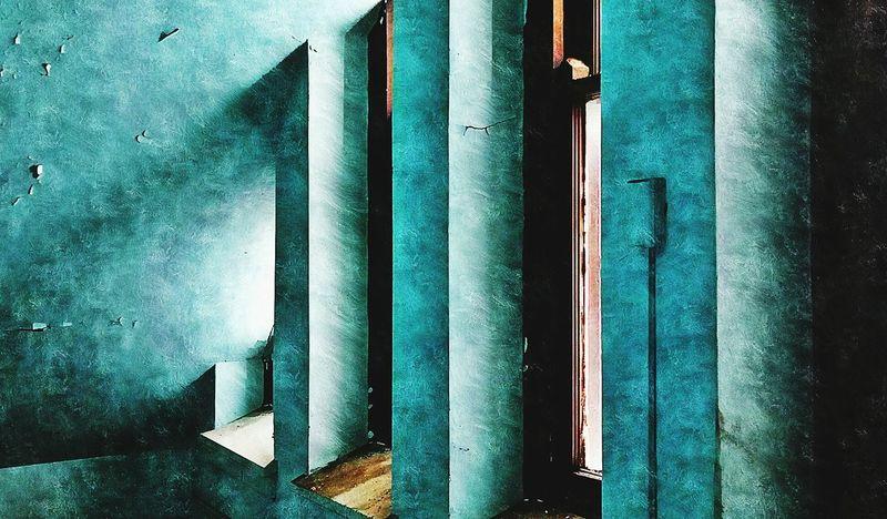 Blue Beautiful Decay NEM Painterly Pantone Colors By GIZMON Obsessive Edits NEM Avantgarde NEM Derelict NEM Architecture Painterly NEM Green