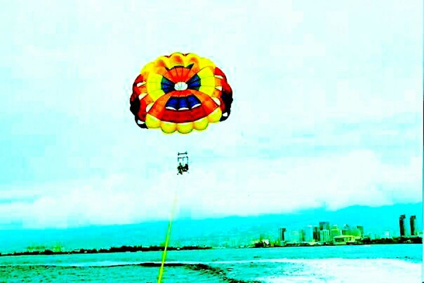 Adventure Club Parasailing Sky Hawaii High Angle View Adventure That's Me Enjoying Life Water People Together