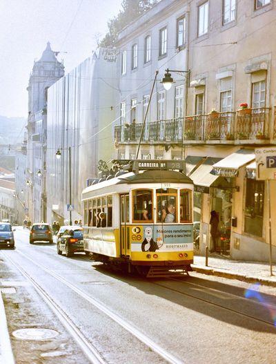 Lisbon Lisbon Portugal Transportation Mode Of Transportation Architecture City Street Building Exterior Built Structure Public Transportation Cable Car Rail Transportation Motor Vehicle City Street