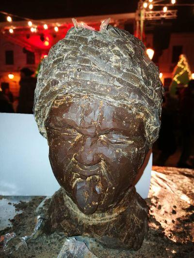 Chocolate Statue Night