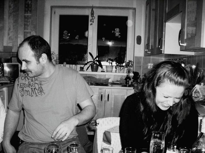 Poddubí Sázava Czech Republic Great Time With Friend Birthay Celebrating Black & White