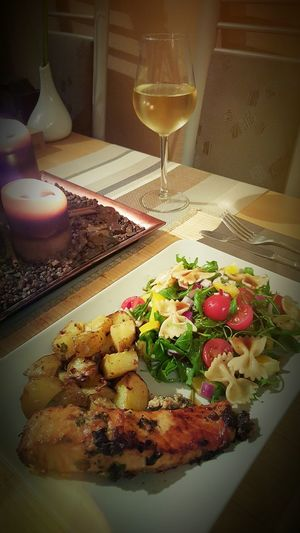 Successful dinner...yummy..i cooked Dijon Mustard Salmon with Rocket salad.. Healthy Dinner My Cooking Yummy Taking Pictures