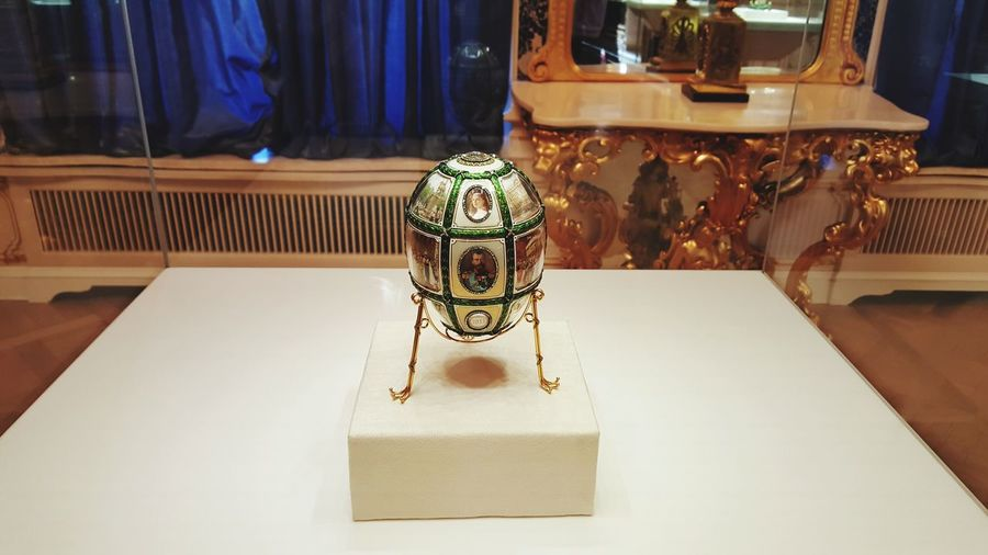 EyeEm Selects Faberge Museum Faberge Egg Jewelry Elégance Precious Gem No People Luxury Wealth Indoors  Close-up Faberge Fabergé-Eier Egg Russia St Petersburg St Petersburg, Russia