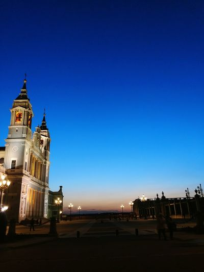 City Travel Destinations Architecture Politics And Government Night Sky Illuminated No People Cityscape Outdoors Astronomy Architecture Urban Skyline City Life Castle SPAIN Madrid Blue Tourism Sunset