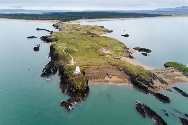 Aerial View Anglesey Beach Coastline Day Drone  High Angle View Leisure Activity Llanddwyn Island No People North Wales Outdoors Scenics Sea Vacations Water Ynys Llanddwyn