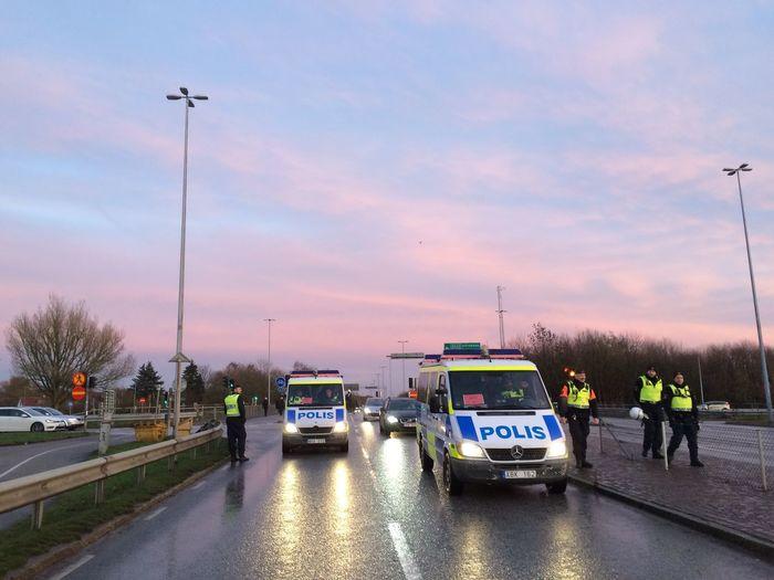 Polis. Lund Sweden Car Cloud - Sky Demonstration Police Police Car Police Cars Road Sky Transportation